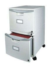 Buy Filing Cabinet Hanging File Storex Wheeled Two Drawer Office Home Organizer Grey