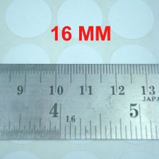 Buy 16MM WHITE ROUND CIRCLE COLOUR ADHESIVE LABEL STICKER 1620 LABELS 15 SHEETS
