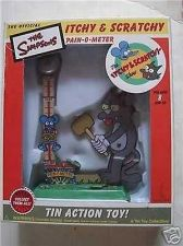 Buy Simpsons Itchy and Scratchy Pain O Meter tin toy