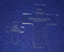 Buy Laser Cut Quilt Templates- 2 Piece Christian Cross Set - Clear Acrylic ~ 1/4""