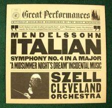Buy Mendelssohn ~ ITALIAN Symphony No. 4 / A Midsummer Night's Dream G. Szell LP