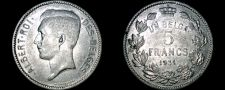 Buy 1931 Belgian 5 Franc World Coin - Belgium