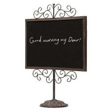 Buy Greeting Display Chalkboard Vintage Brown Metal Frame Stand Drawing Conuter Spin