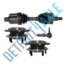 Buy Front Driver CV Axle Shaft w/ ABS + Tie Rod + 2 Wheel Hub and Bearing Assembly