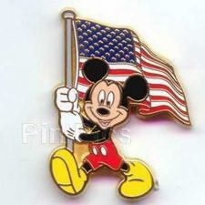 Buy Disney Mickey Mouse caring America USA Flag Pin/Pins