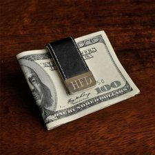 Buy Gentry Leather Money Clip - Free Engraving