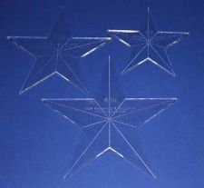 Buy Laser Cut Quilt Templates- 3 Piece Star - Clear Acrylic 1/8""