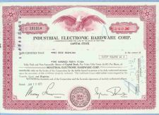 Buy New York na Stock Certificate Company: Industrial Electronic Hardware Corp~44