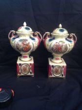 Buy Antique 1800s Pair Royal Vienna Porcelain Lidded Urn Vase