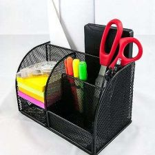 Buy Drawer Desk Organizer Metal Mesh Office Home Cubicle Countertop Clutter Notepads