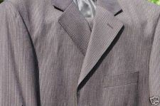 Buy MENS 3 BUTTON SINGLE BREASTED SUIT 42 REG, UNHEMMED,waist size 36 Wool Blend