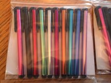 Buy Styluses 10 pack - rainbow of colors / Fast Free USA Shipping