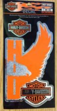 Buy Authentic Harley-Davidson W/ Bar & Shield, Chrome Decal -NEW - Made In USA-