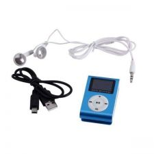 Buy 4GB Small Screen Clip MP3 Player Blue