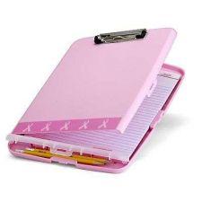Buy Clipboard Box Paper Holder Cancer Supp Storage Office Work Organizer Record Pink