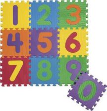 "Buy Foam Numbers Floor Puzzle Play Mat 12"" x 12"" x 5/8"" Tiles with Storage Case"
