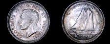 Buy 1940 Canada 10 Cent World Silver Coin - Canada - George VI