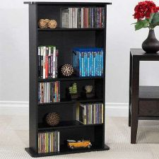 Buy Media Cabinet Tower CD DVD Video Game Storage Book Shelf Rack Organizer Shelves