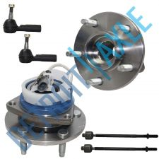 Buy 2 Front Wheel Hub Bearing Assembly w/ ABS FWD + 2 Inner and 2 Outer Tie Rod