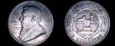 Buy 1895 South African 2 Shilling World Silver Coin - South Africa - Scratches
