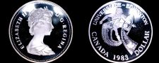 Buy 1983 Proof Canadian Silver Dollar World Coin - Canada Edmonton Univ Games