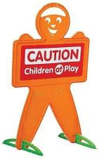 Buy Safety Man Safe Street Drivers Alert Caution Toy Children At Play Sign Kids NEW