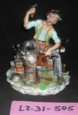 Buy CAPODIMONTE The Coppersmith Laurenz Classic Sculpture Italy COA #505
