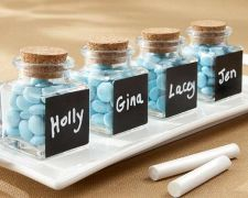 Buy Chalkboard Glass and Cork Favor Jars (Set of 24)