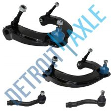 Buy 4 pc Set: 2 Front Upper Control Arm and Ball Joint Assembly + 2 Outer Tie Rod