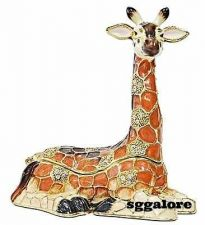 Buy Collectible RUCINNI Swarovski Crystals BeJeweled GIRAFFE Trinket Jewelry BOX