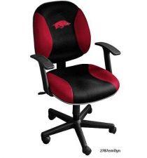 Buy Arkansas Razorback Office Chair Leather Modern Men Desk Furniture FREE SHIPPING!