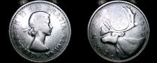 Buy 1959 Canadian Quarter 25 Cents Canada Silver Coin