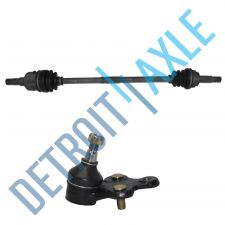 Buy 2 pc Set - Front Passenger Side CV Axle Shaft and Lower Ball Joint - w/o ABS