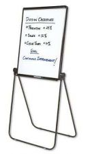 Buy Easel Whiteboard Flipchart 27x34 Inches Reversible Black Frame Whiteboard Marker