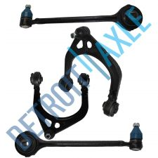Buy 4PC Kit: 2 NEW Front Upper + 2 Lower Control Arm and Ball Joint Assembly Set RWD
