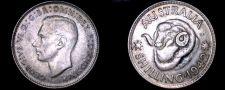Buy 1942(m) Australian 1 Shilling World Silver Coin - Australia