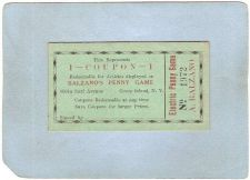 Buy New York Coney Island Amusement Park Ephemera Coupon Balzano's Penny Game ~485
