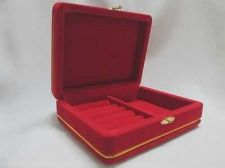 Buy Jewelry Box Travel Red Velvet Necklace Ring Display Tray Case Organizer 5x4x1.8""