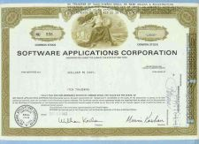 Buy New York na Stock Certificate Company: Software Applications Corporation ~80