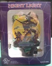 Buy Flying Witch w/ Haunted houses Night Light Halloween