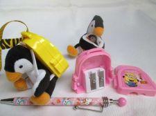 Buy Pencil sharpener 2 Hole Yellow or Pink + Penguin + Lanyard Strap, Christmas Gift