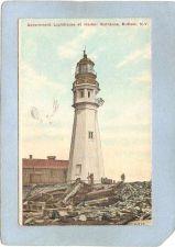 Buy New York Buffalo Lighthouse Postcard Government Lighthouse At Harbor Entra~754