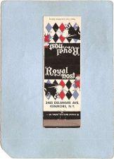 Buy New York Kenmore Matchcover Royal Host 3485 Delaware Ave w/Info Inside ny_~2383