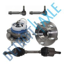 Buy Front Right CV Axle Shaft and 2 Wheel Bearing Assembly w/ ABS + 2 Outer Tie Rods