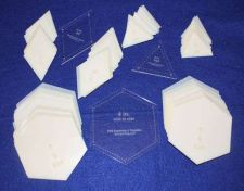 "Buy Mylar 4"" Hexagon Side to Side -2"" E- Triangle 4"" Dia 153 Piece Set -Template-"