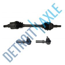 Buy 3 Piece Kit - Front Passenger Side CV Axle Shaft + 2 NEW Outer Tie Rods