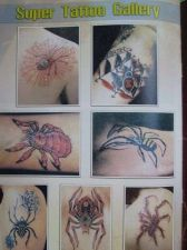 Buy Skull Spider Monster Tattoo Flash 500 Design Menu Book Supply Colorful 68 Pages