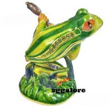 Buy Collectible RUCINNI Swarovski Crystals BeJeweled FROG Trinket Jewelry BOX FROGS