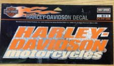 Buy Authentic Harley-Davidson Motorcycles On Glittery Chrome Background Decal -NEW