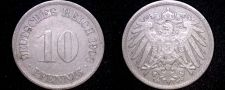 Buy 1908 F German 10 Pfennig World Coin - Germany